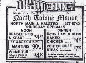 North Towne manor ad 1981