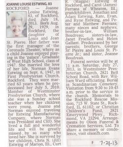Estwing, Joanne Louise
