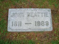Another part of the gravesite of John Beattie