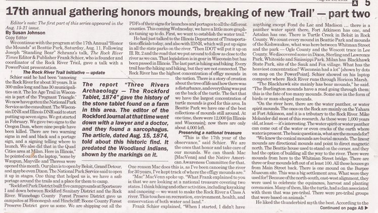 """""""17th Annual Gathering Honors Mounds, Breaking of New 'Trail'"""""""