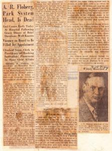 Death of Arthur R. Floberg, 1931