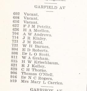 Garfield Ave., 1914