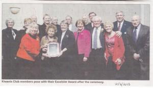 Kiwanis Win Excelsior Award, 2013