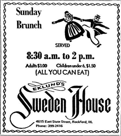 Sweden House Sunday Brunch
