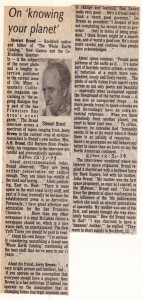 1979 Article, Stewart Brand, The Whole Earth Catalogue