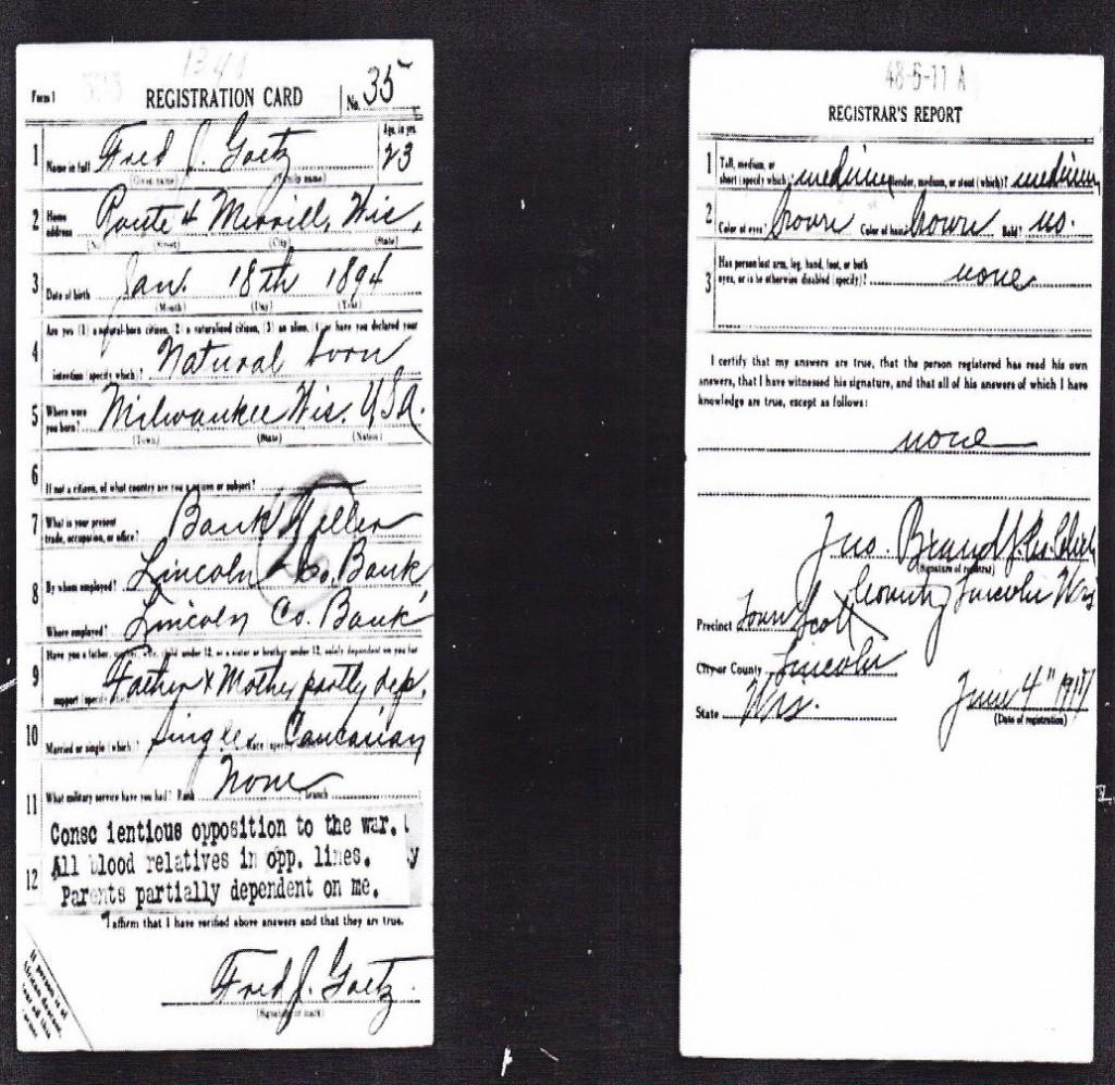 Goetz - WWI Draft Reg