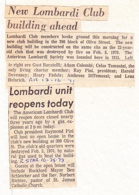 Lombardi Club 1971