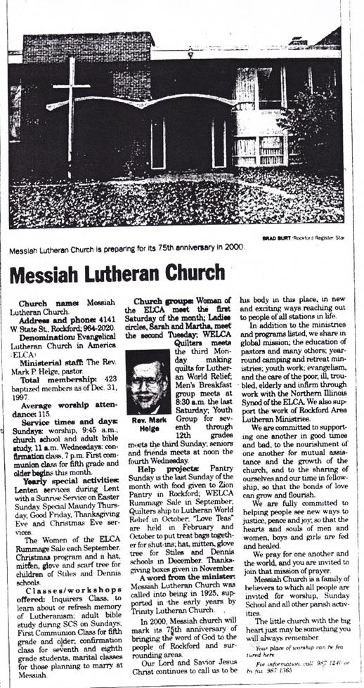 Messiah Lutheran Church of Rockford