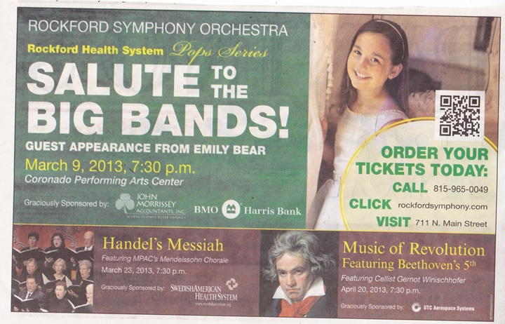 Rockford Symphony Orchestra Salute to Big Bands