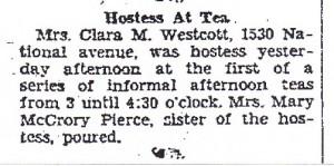 Westcott tea