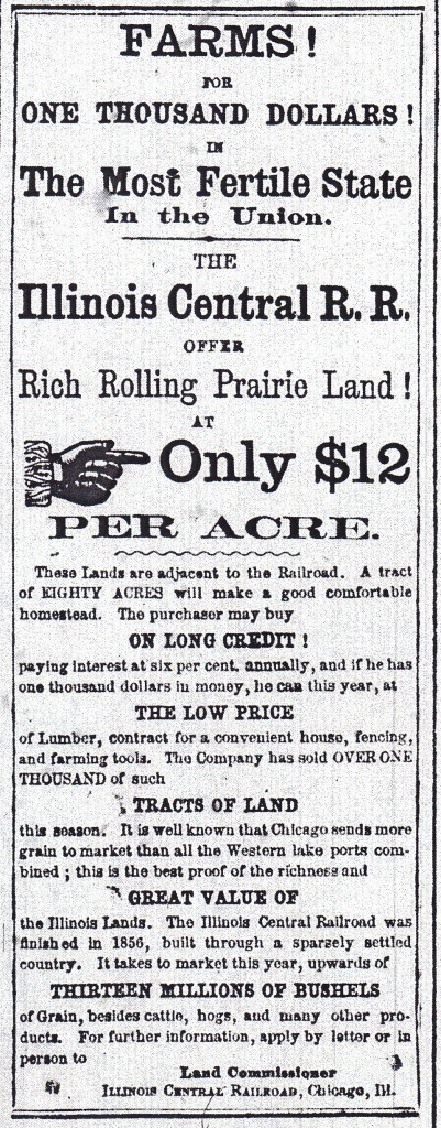 Illinois Central RR  2 22 1862