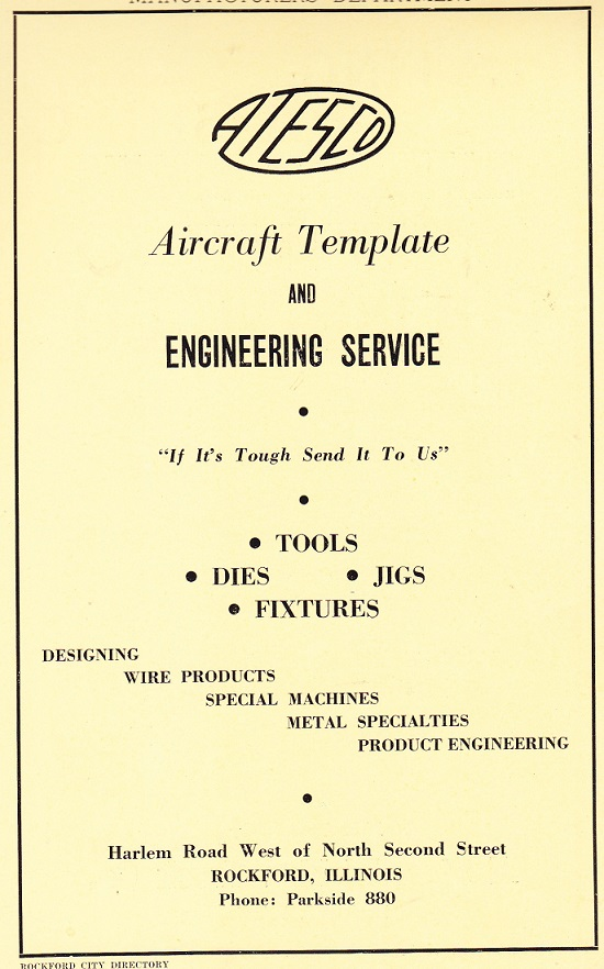 Aircraft Template and Eng