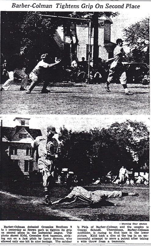 Barber-Colman baseball