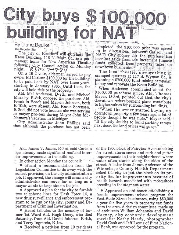 City buys building for NAT