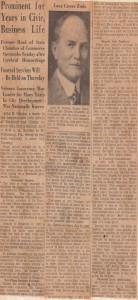 John Camlin Obituary, 1938