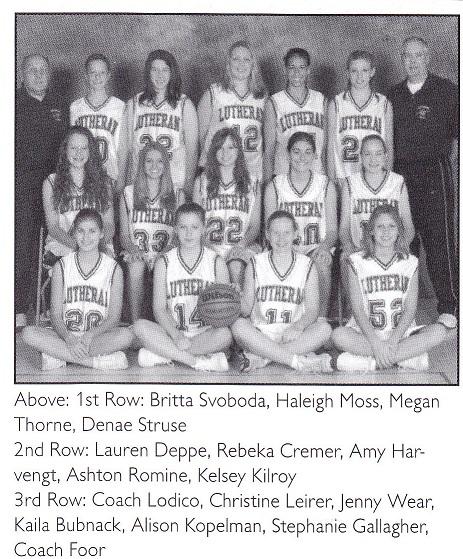 R Lutheran girls BB team