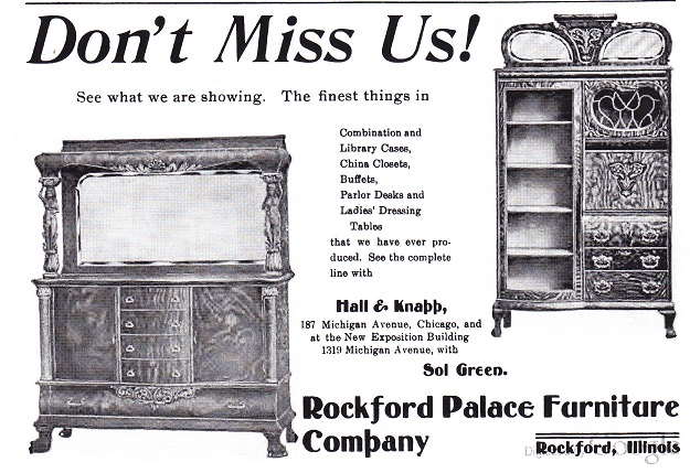 Rockford Palace Furniture Co 1904 Rpl 39 S Local History