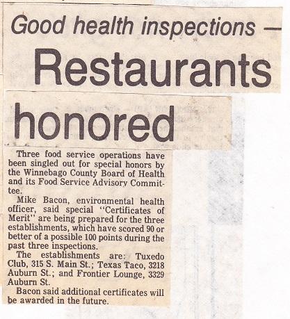 Restaurants Honored