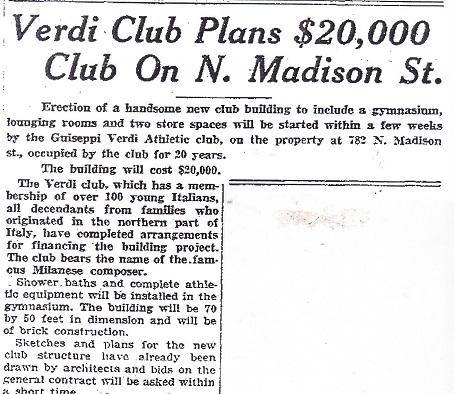Verdi Club Plans
