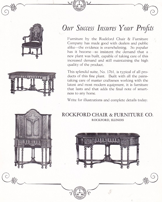 Rockford Chair And Furniture Co Rpl 39 S Local History