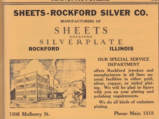 Sheets Rockford Silver Plate