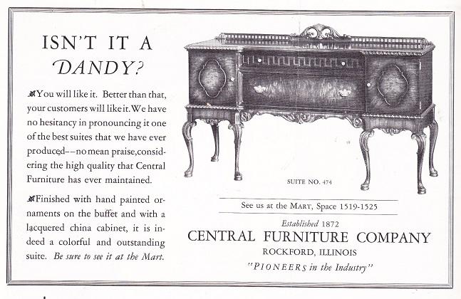 Central Furniture Co. 1926