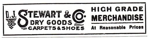 D.J. Stewart & Co. High Grade Merchandise Ad
