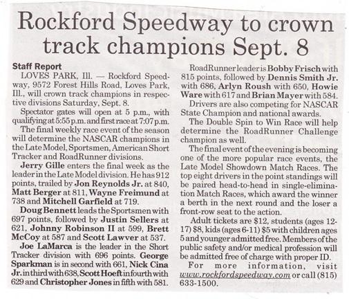 Rockford Speedway champions