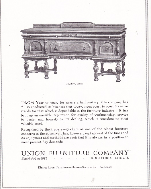 Union Furniture Co Mar 1925 Rpl 39 S Local History