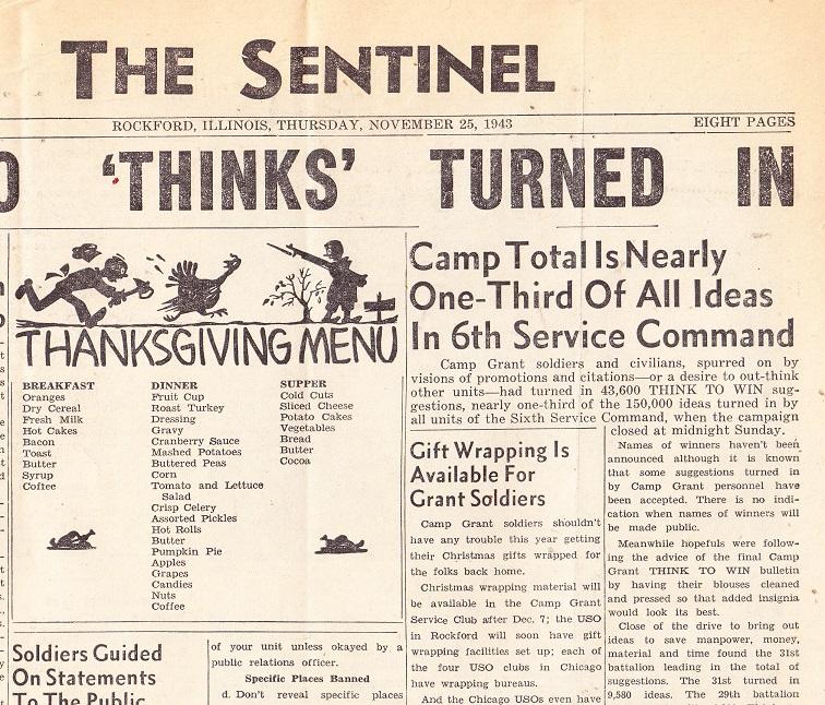 Camp Grant Thanksgiving