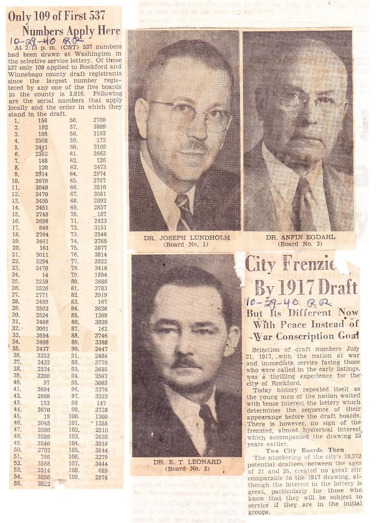 City Draft 1917