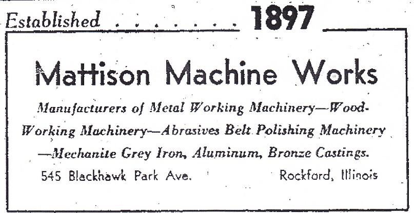 Mattison Machine - 2