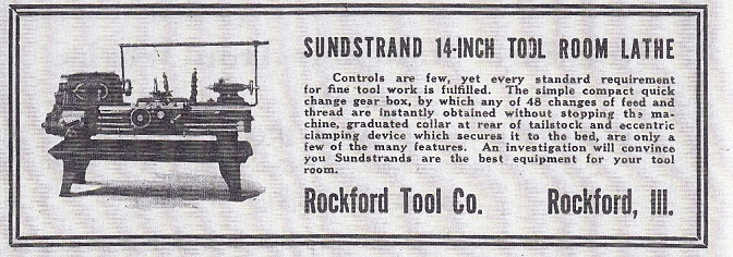 Rockford Tool Co.  1925