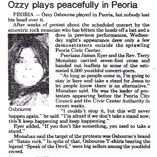 Ozzy in Peoria