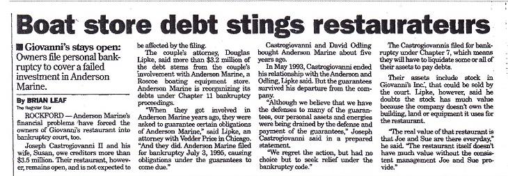 Boat Store Debt