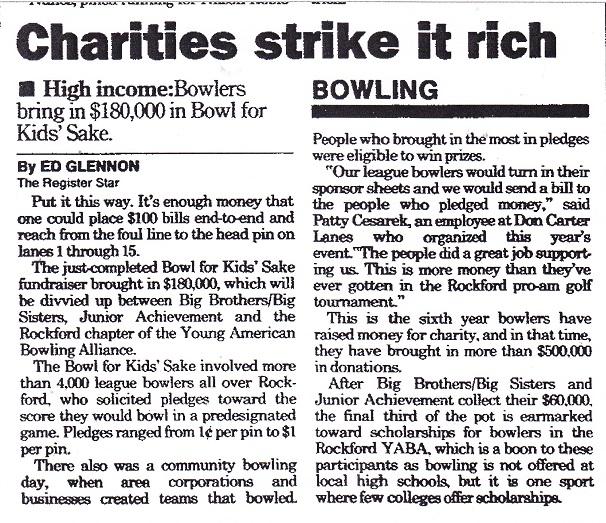Charities Strike It Rich