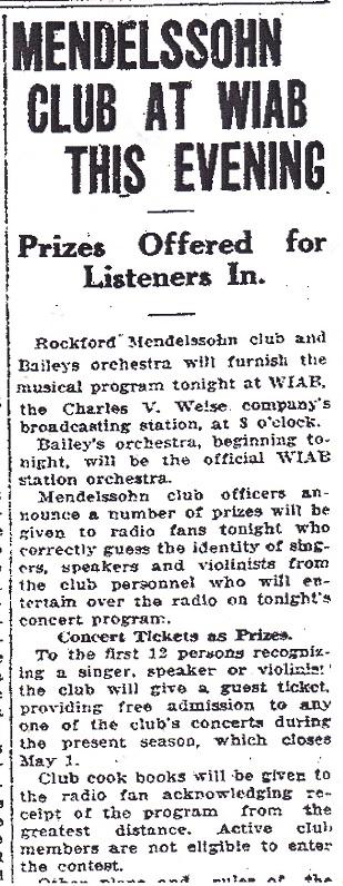 Mendelssohn Club - WIAB