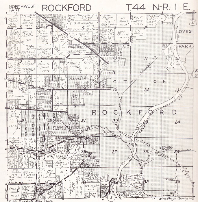 Rockford Township plat NW
