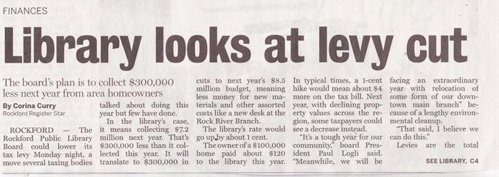Rockford Public Library Finances