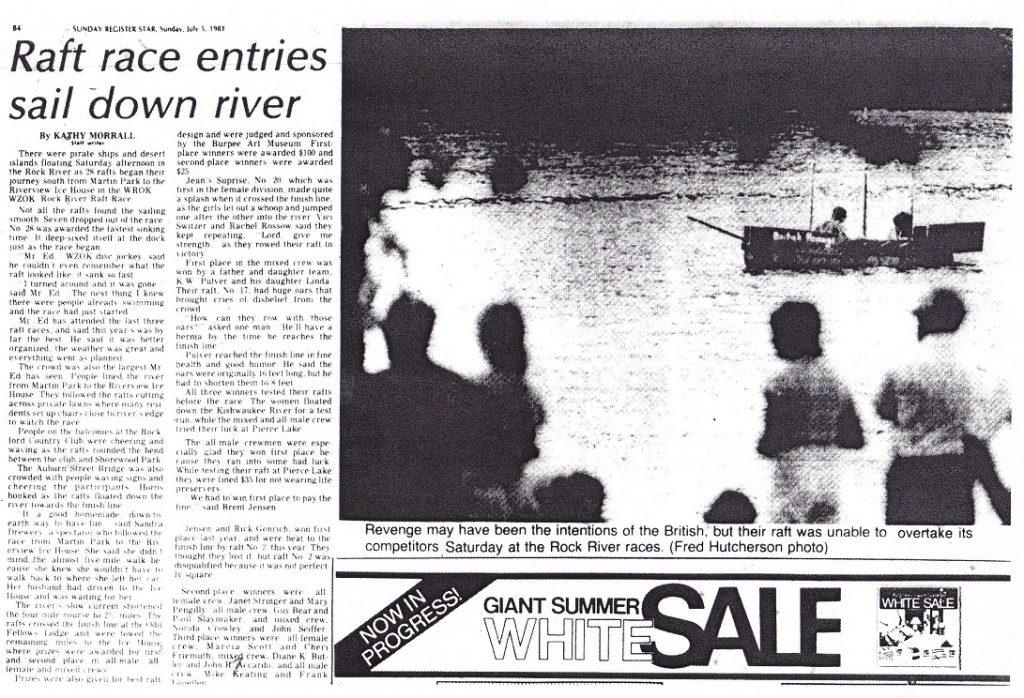 Anything raft race 1981