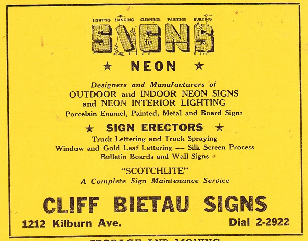 Cliff Bietau Signs