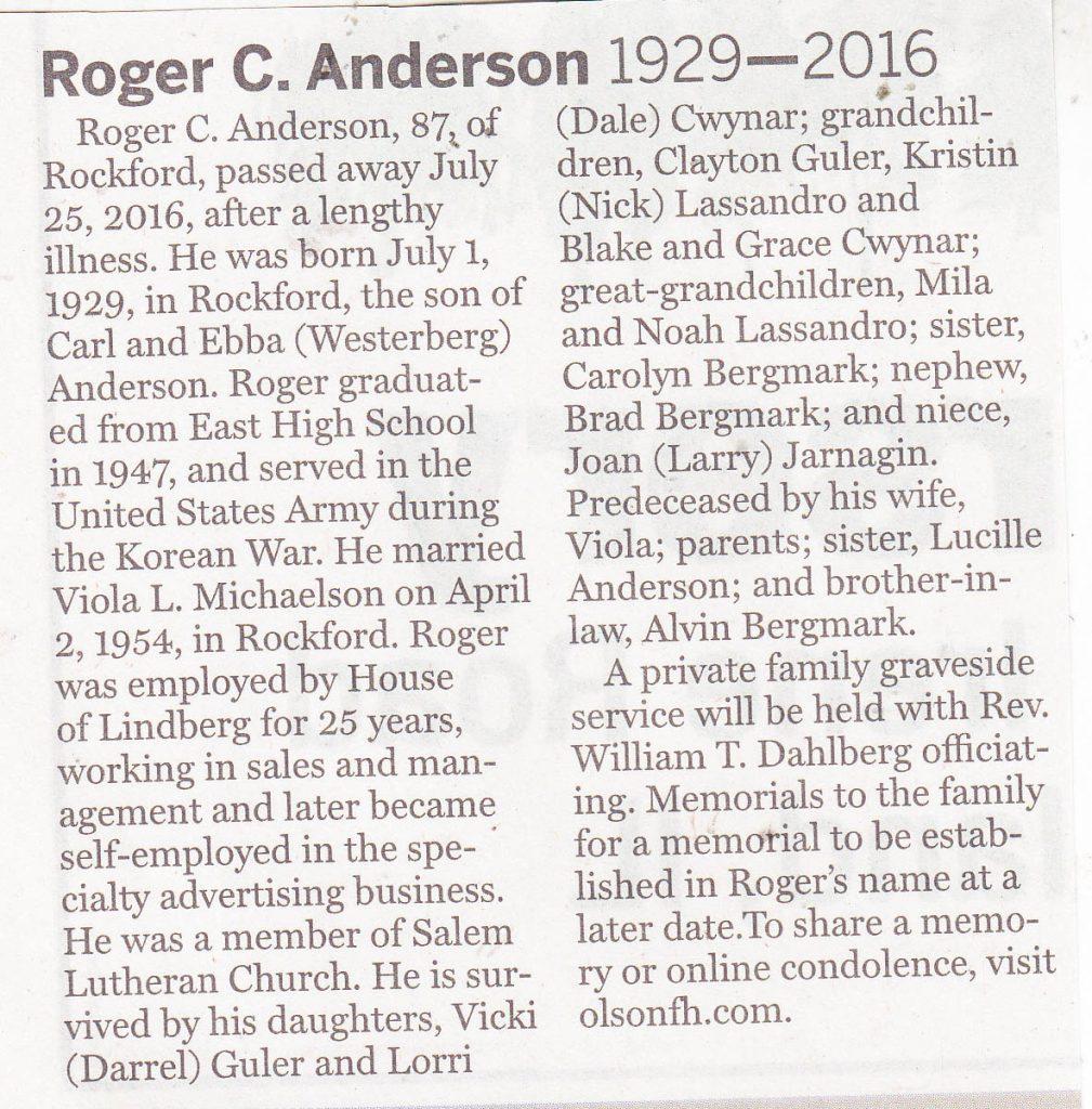 Roger C. Anderson