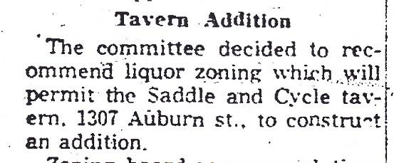 Saddle liquor permit