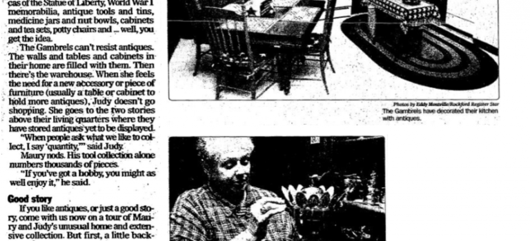Maury and Judy Gambrel  Antiques   RR Star Oct. 4, 2001